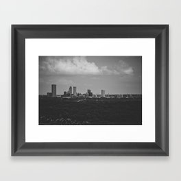 tulsa. Framed Art Print