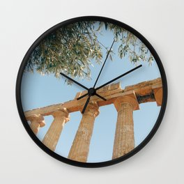 The Ancient Agrigento Temple Wall Clock