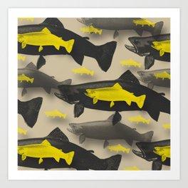 3D Fish Art Print