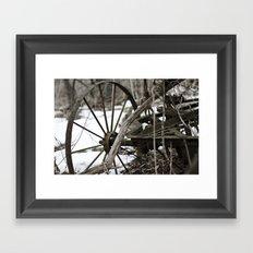 Broken Wheel Framed Art Print