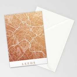 Leeds map Stationery Cards
