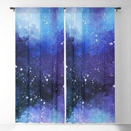 Watercolor space paint Blackout Curtain