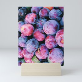 Juicy Summer Plums Mini Art Print