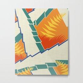 AGONDA Art Deco Modern: FISH BOWL Metal Print