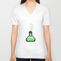 chemistry V-neck T-shirts featuring the chemistry by muffa