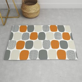 Wonky Ovals in Orange Rug