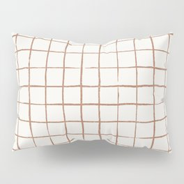 Imperfect Grid in Ivory and Clay Pillow Sham
