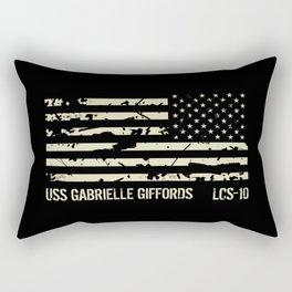 USS Gabrielle Giffords Rectangular Pillow