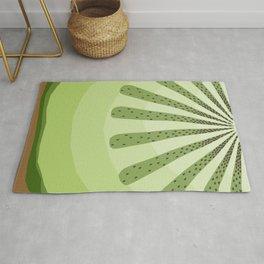 Abstract Kiwi Pattern Rug