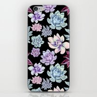 succulents iPhone & iPod Skins featuring Succulents by Miranda Montes