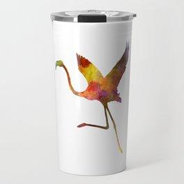 Flamingo 02 in watercolor Travel Mug