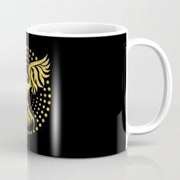 Gold Decorated Phoenix bird symbol Coffee Mug
