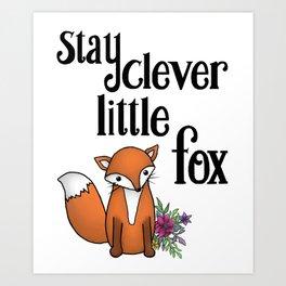Clever Fox Art Print