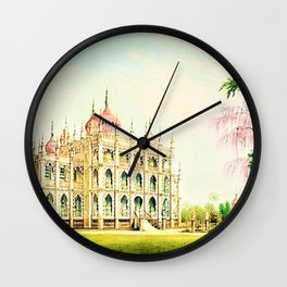 P.T. Barnum's 1848 lost palace of Iranistan in Bridgeport, Connecticut Wall Clock