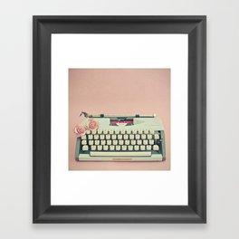 Love Letter Framed Art Print