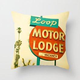 Loop Motor Lodge Throw Pillow