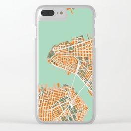 New York city map orange Clear iPhone Case
