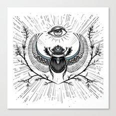scarab and eye Canvas Print