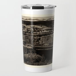 Black and White Landscape in Sepia Tone Travel Mug