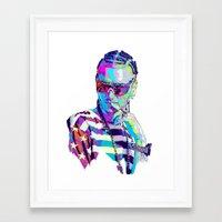 riff raff Framed Art Prints featuring RIFF RAFF // NEXTGEN RAPPERS by mergedvisible