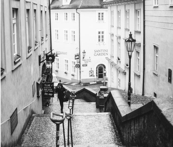 Streets Of Prague Metal Travel Mug