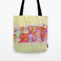 charmaine olivia Tote Bags featuring Charmaine by Ingrid Padilla