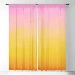 Painterly Gradient - Rich Sunset Variant Blackout Curtain