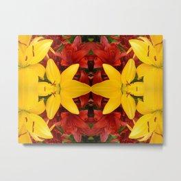 """A Gathering of Lilies"" Remix - 4 (1-1) [D4469~57] Metal Print"