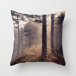 Mystic Forest in Slovenia 01 Throw Pillow