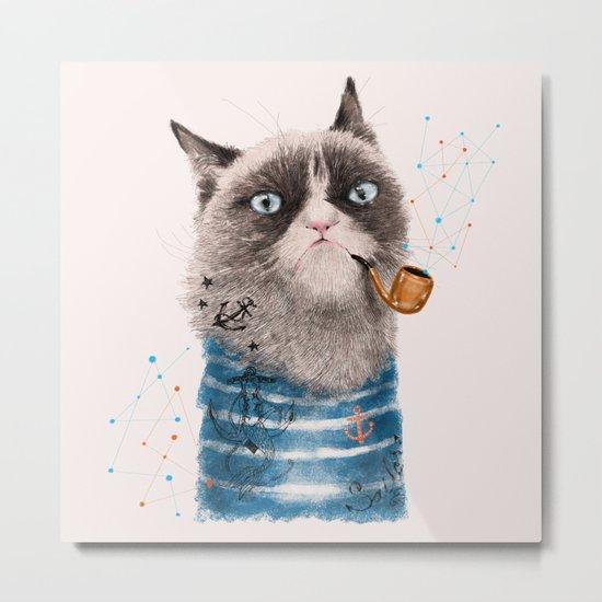 Sailor Cat III Metal Print
