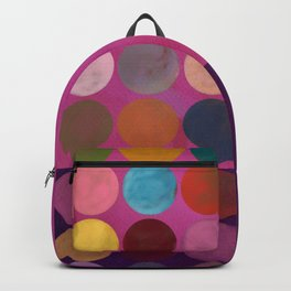 purple painterly dots Backpack