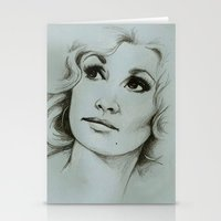 dolly parton Stationery Cards featuring Dolly Parton by Talula Christian