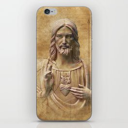Vintage Drawing of Jesus Christ - Religious iPhone Skin