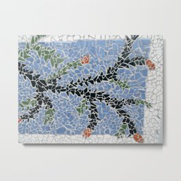 Totara Berry Mosaic Metal Print