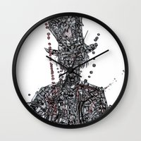 willy wonka Wall Clocks featuring WOnkA by Nicholas Price