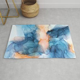 Captivate- Alcohol Ink Painting Rug