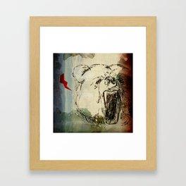 Don't Feed the Bears Lightning Framed Art Print