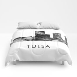 Tulsa, Oklahoma Skyline WB BW Comforters