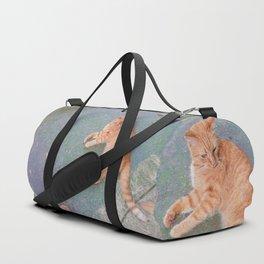 Cat Lounging Duffle Bag