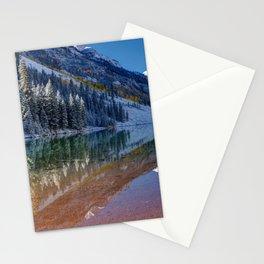 Fall Season at Maroon Bells Panoramic Image Stationery Cards