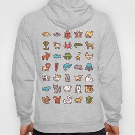 CUTE ANIMAL KINGDOM PATTERN Hoody