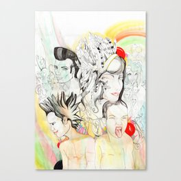 Crazy Family Canvas Print