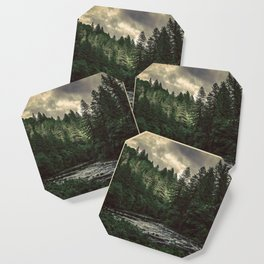 Pacific Northwest River - Nature Photography Coaster