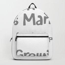 Growing Old Is Mandatory Backpack