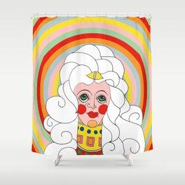 Theodora in Technicolor Shower Curtain