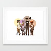 roosterteeth Framed Art Prints featuring Five Nights at CFVY's by TheKingKez