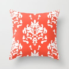 SOPHISTICATED- CORAL IKAT Throw Pillow