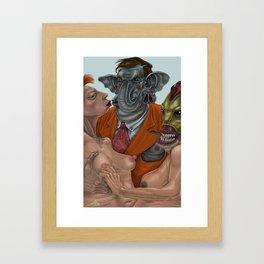 Flip Trunkington Framed Art Print