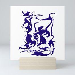 face9 blue Mini Art Print