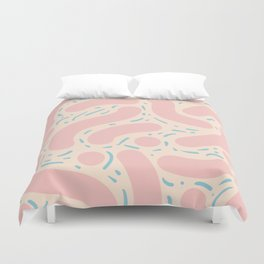 Wibbly Wobbly - Cotton Candy Duvet Cover